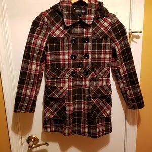 Like New! ROTHSCHILD Plaid Doublebreasted Coat